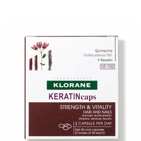 KLORANE KeratinCaps Dietary Supplements - Thinning Hair (60 capsules)