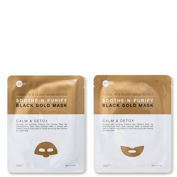 SKIN INC Supplement Bar Soothe-n-Purify Black Gold Mask (3 count)