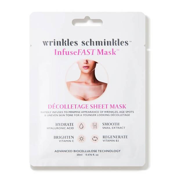Wrinkles Schminkles InfuseFAST Decolletage Sheet Mask (5 count - $100 Value)