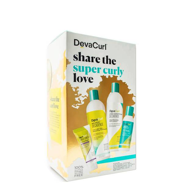 DevaCurl Share the Super Curly Love: Cleanser Conditioner Styler Kit for Curly Hair (4 piece)