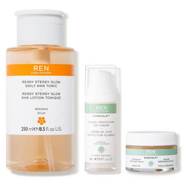 REN Clean Skincare Best Sellers Bundle (3 piece - $135 Value)