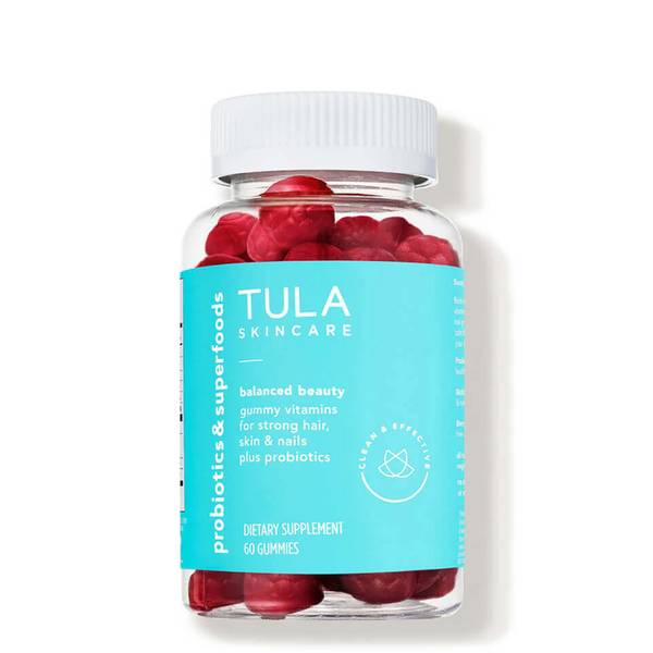 TULA Skincare Balanced Beauty Gummy Vitamins For Strong Hair Skin Nails Plus Probiotics (60 count)