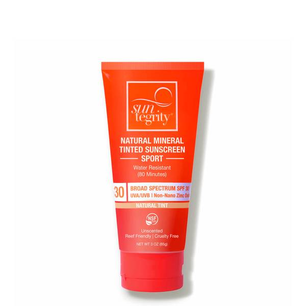 Suntegrity Skincare Natural Mineral Tinted Sunscreen Sport SPF 30 - Tinted (3 oz.)