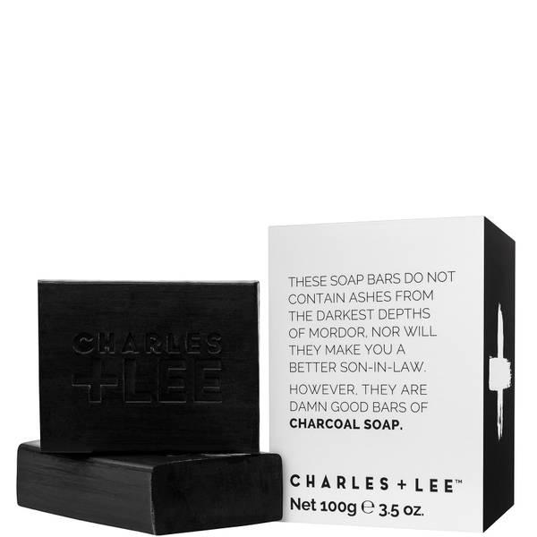 Charles + Lee Charcoal Soap Bar Duo