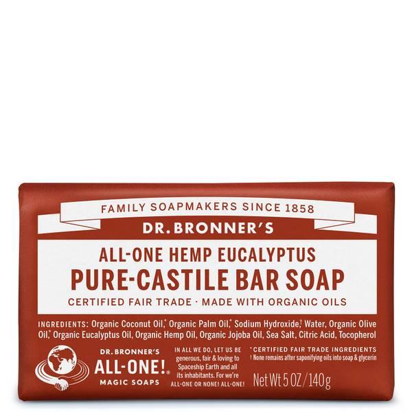 Dr Bronner's Pure Castile Bar Soap Eucalyptus 140g