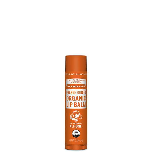Dr. Bronner's Organic Organic Lip Balm - Orange Ginger 4g