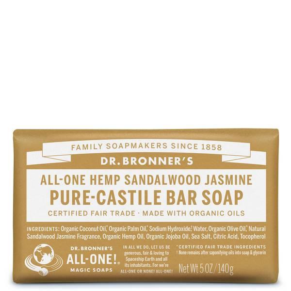 Dr Bronner's Pure Castile Bar Soap Sandalwood and Jasmine 140g