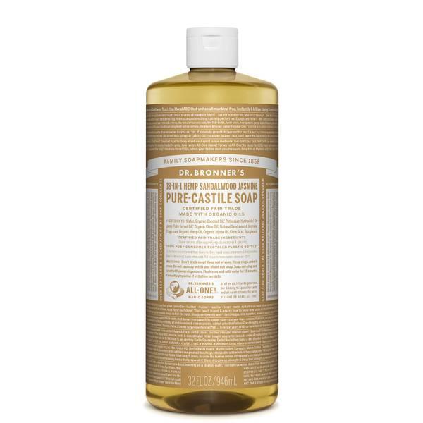 Dr Bronner's Pure Castile Liquid Soap Sandalwood and Jasmine 946ml
