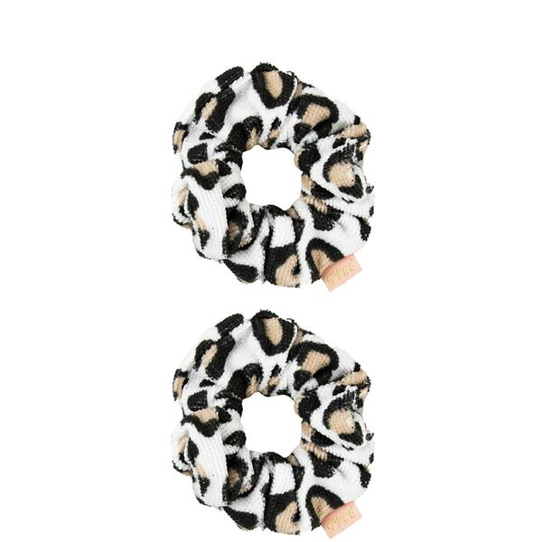The Vintage Cosmetic Company Shower Microfibre Hair Scrunchies - Leopard Print (2 Pack)