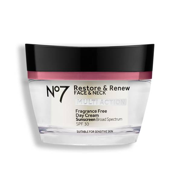 Restore & Renew Face & Neck Multi Action Fragrance Free Day Cream SPF 30