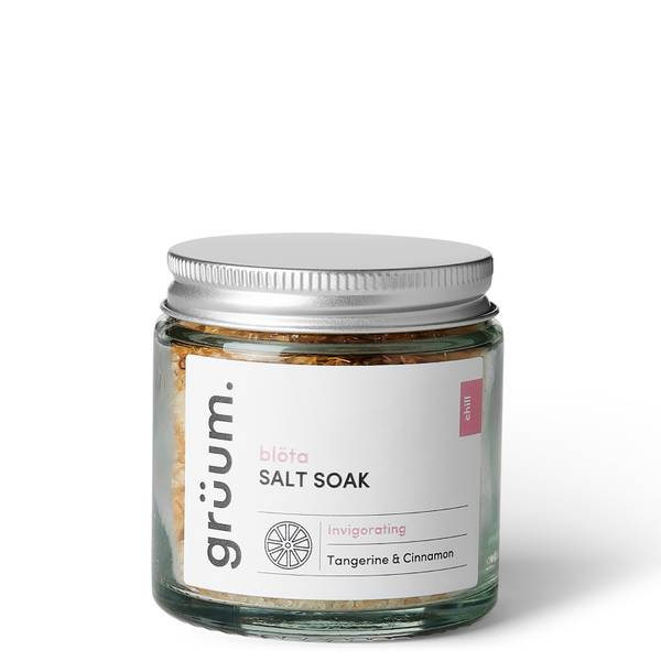 grüum blöta Tangerine and Cinnamon Bath Salt Soak 120g