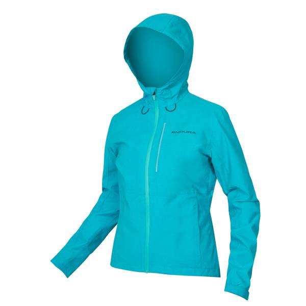 Womens Hummvee Waterproof Hooded Jacket - Pacific Blue