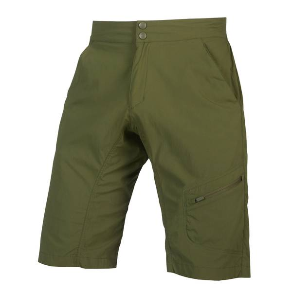 Hummvee Lite Short with Liner - Olive Green