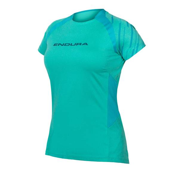 Women's SingleTrack S/S Jersey - Pacific Blue