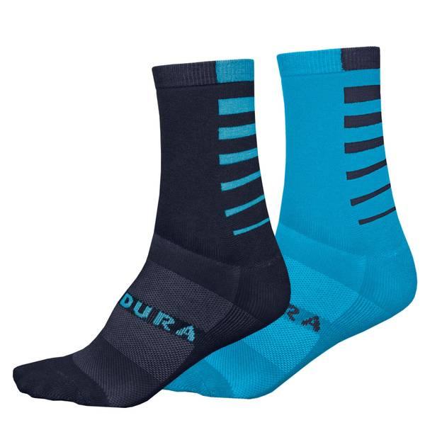 Coolmax® Stripe Socks (Twin Pack)