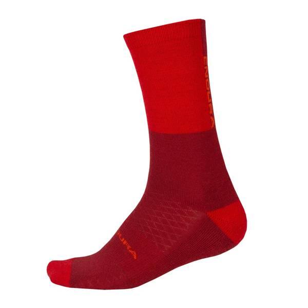 BaaBaa Merino Winter Sock - Rust Red