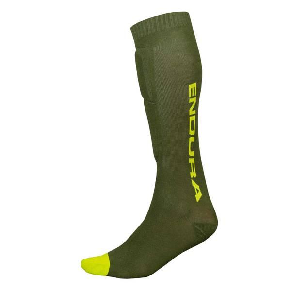 SingleTrack Shin Guard Sock - Forest Green