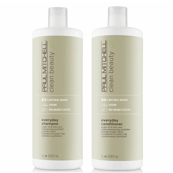 Paul Mitchell Clean Beauty Everyday Shampoo and Conditioner Supersize Set