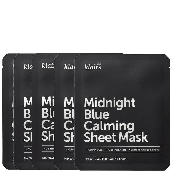 Dear, Klairs Midnight Blue Calming Sheet Mask (Pack of 5)