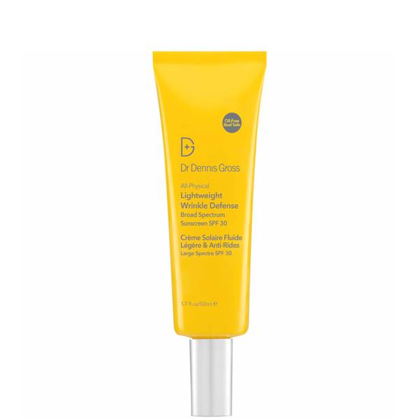 Dr. Dennis Gross Skincare All-Physical Lightweight Wrinkle Defense Broad Spectrum Sunscreen SPF 30 1.7 fl. oz.