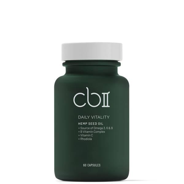 CBII Vitality Cápsulas de semillas de cáñamo con vitamina B y C 157g