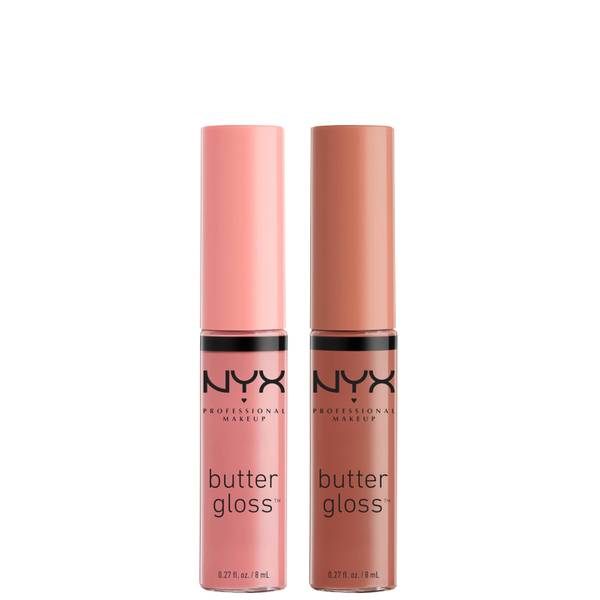 NYX Professional Makeup Butter Gloss Lip Gloss Duo - Praline and Crème Brulee