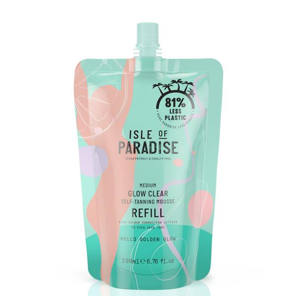 Isle of Paradise Glow Clear Self-Tanning Mousse Refill - Medium 200ml