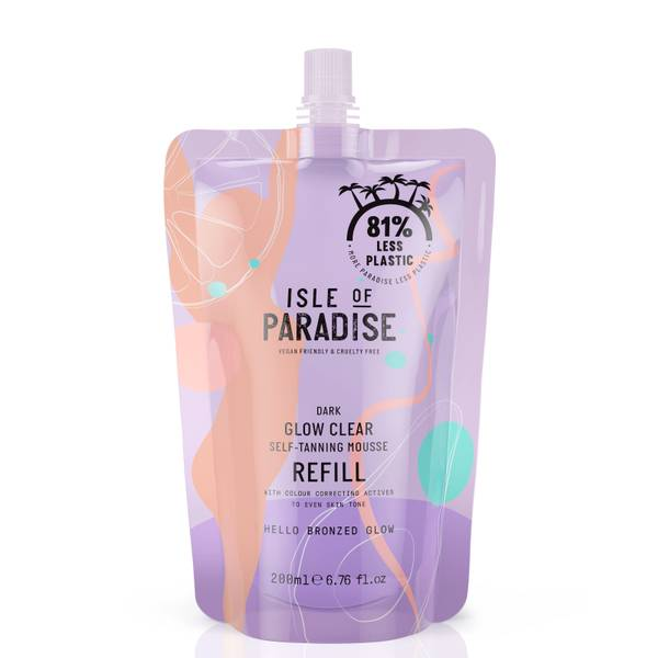 Isle of Paradise Glow Clear Self-Tanning Mousse Refill - Dark 200ml