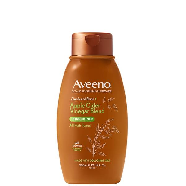 Aveeno Scalp Soothing Haircare Clarify and Shine Apple Cider Vinegar Conditioner 354ml