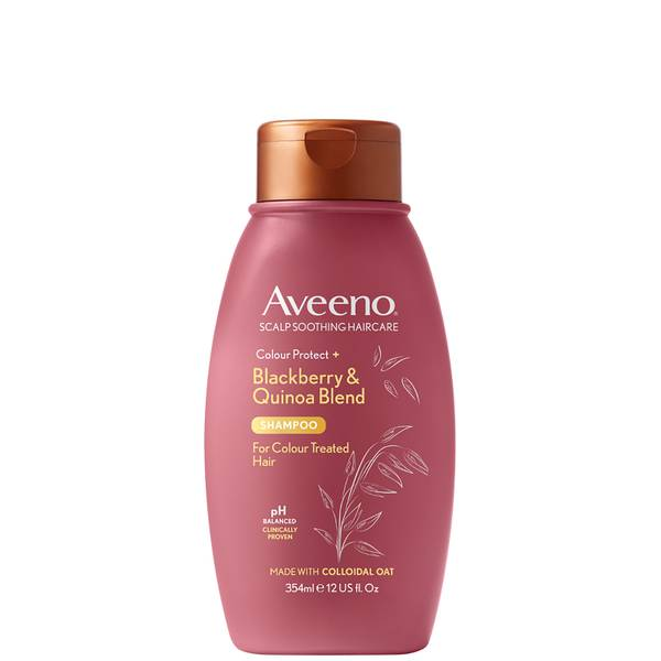 Aveeno Scalp Soothing Haircare Colour Protect Blackberry and Quinoa Shampoo 354ml