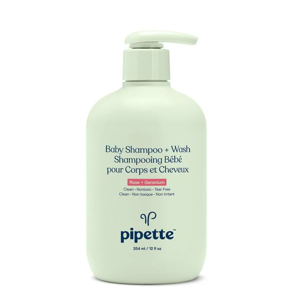 Pipette Baby Shampoo and Wash - Rose and Geranium 12 fl oz