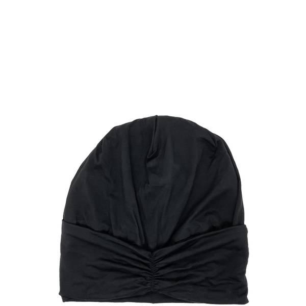 Kitsch Satin Lined Jersey Sleep Beanie - Black