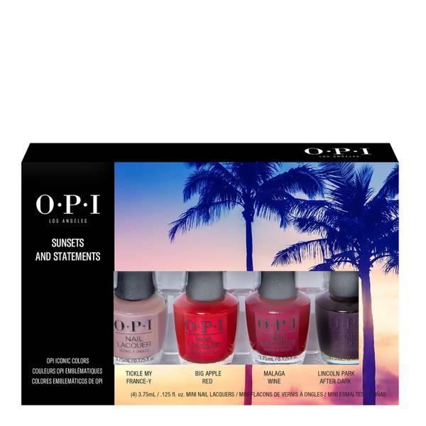 OPI Sunsets and Statements Mini Nail Polish Gift Set 4 x 3.75ml
