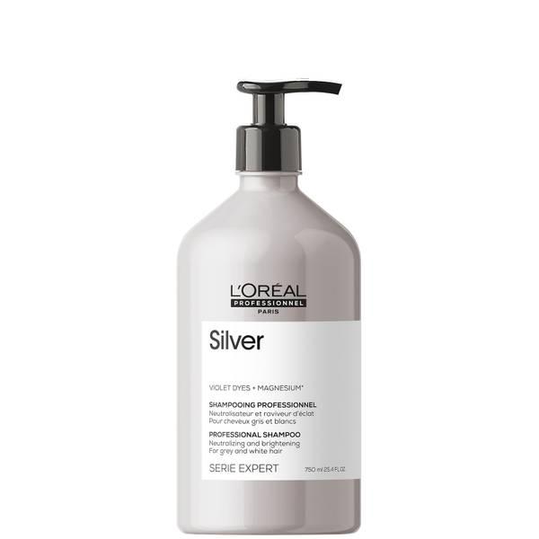 L'Oréal Professionnel Serie Expert Silver Shampoo for Grey, White or Light Blonde Hair 750ml