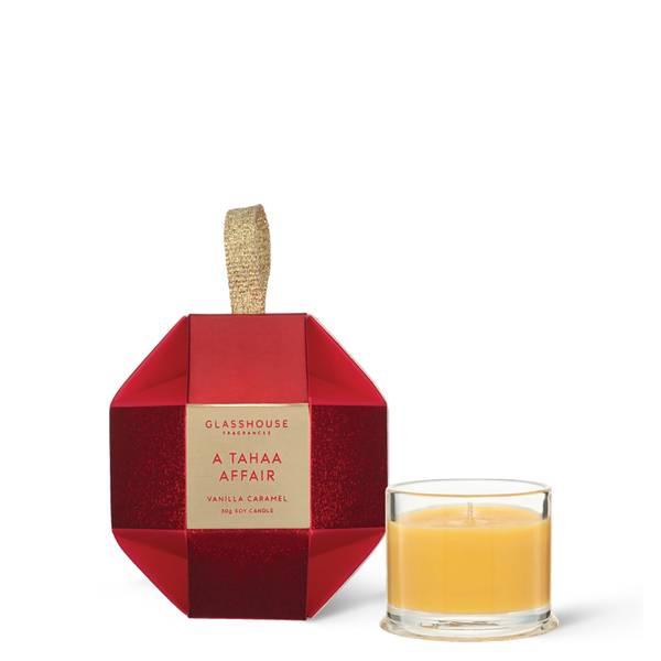 Glasshouse Christmas A Tahaa Affair Christmas Bauble Candle 30g