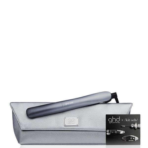 """ghd 20th Anniversary Gold 1"""" Styler with Heat-Resistant Bag and Hair Clips"""