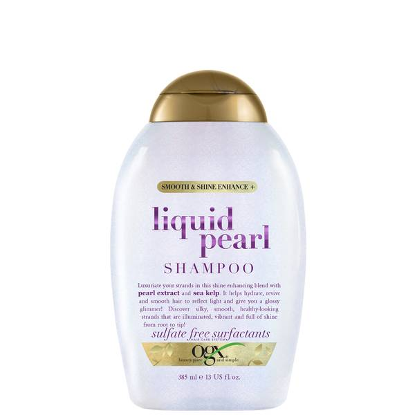 OGX Smooth and Shine Enhance Liquid Pearl Shampoo 385ml