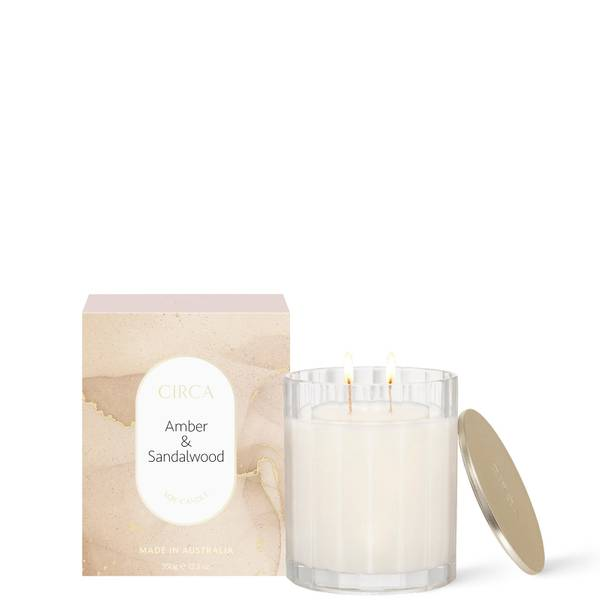 CIRCA Amber & Sandalwood Scented Soy Candle 350g