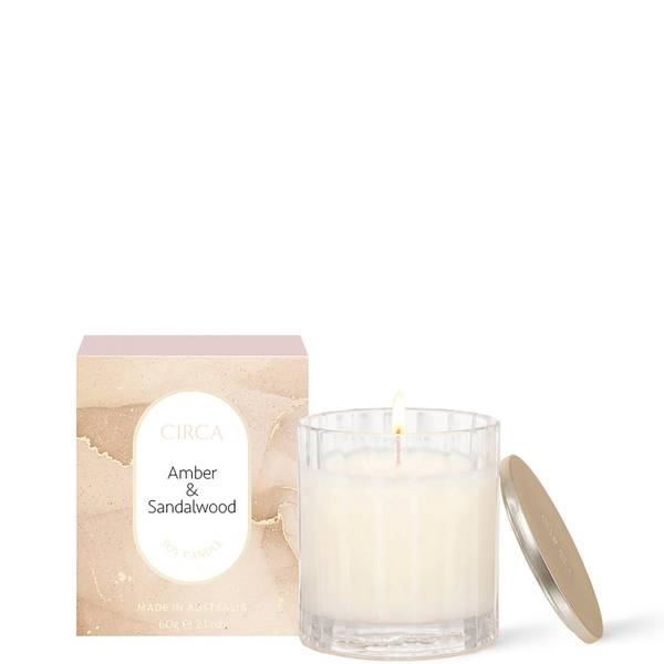 CIRCA Amber & Sandalwood Scented Soy Candle 60g