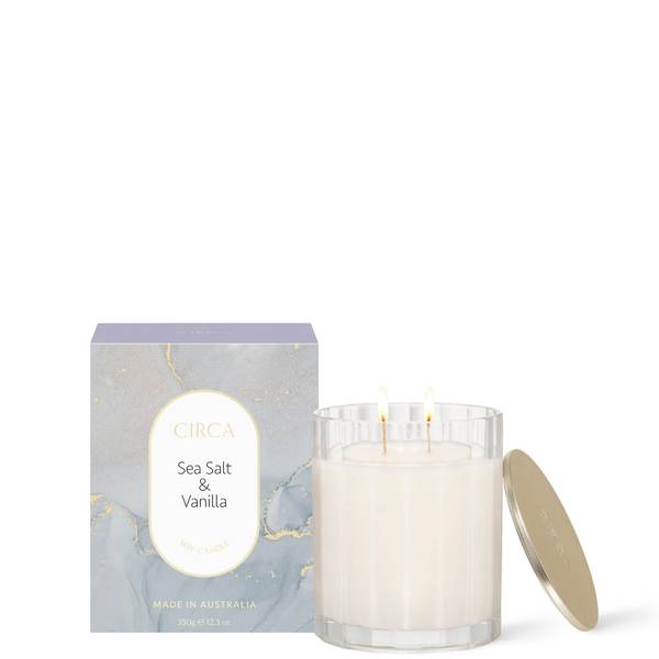 CIRCA Sea Salt & Vanilla Scented Soy Candle 350g