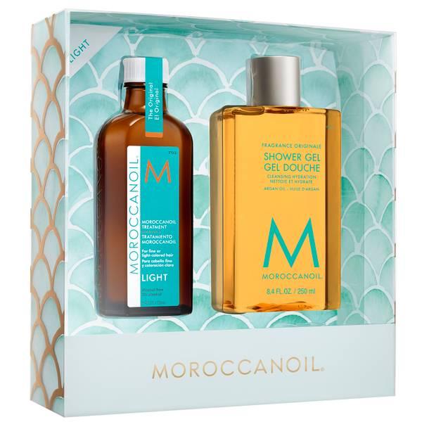 Moroccanoil Treatment Light and Shower Gel Gift Set