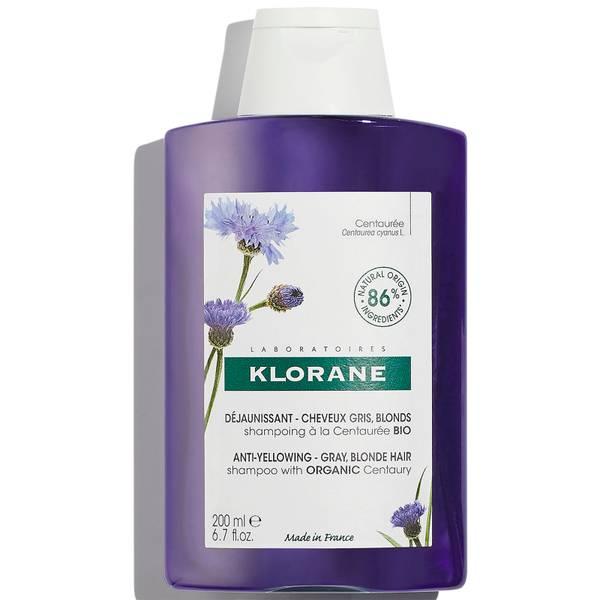 KLORANE Anti-Yellowing Shampoo with Organic Centaury for White and Grey Hair 200ml