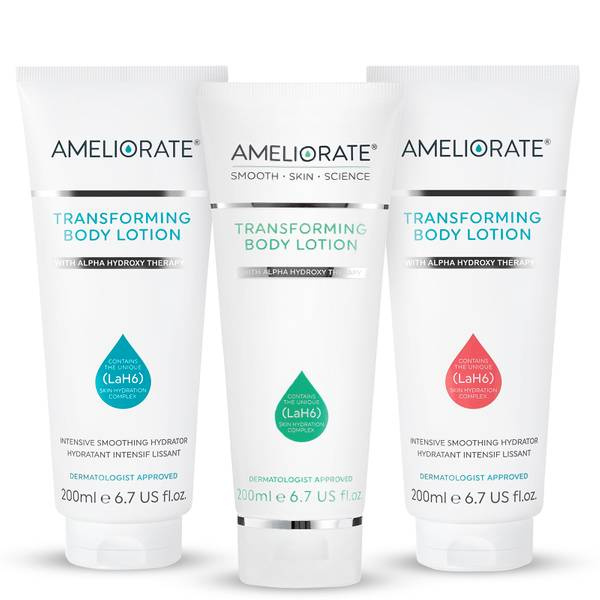 AMELIORATE Fresh Transforming Body Lotion Trio