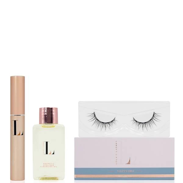 Lola's Lashes Sapphire Magnetic Eyelash Kit - Black Eyeliner