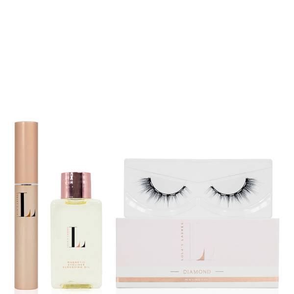 Lola's Lashes Diamond Magnetic Eyelash Kit - Black Eyeliner