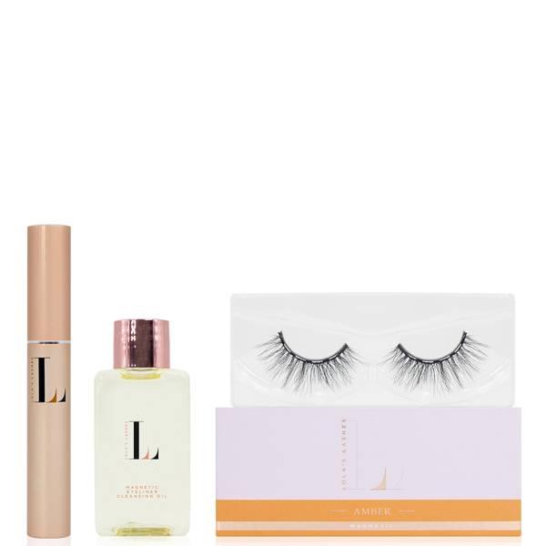 Lola's Lashes Amber Magnetic Eyelash Kit - Black Eyeliner