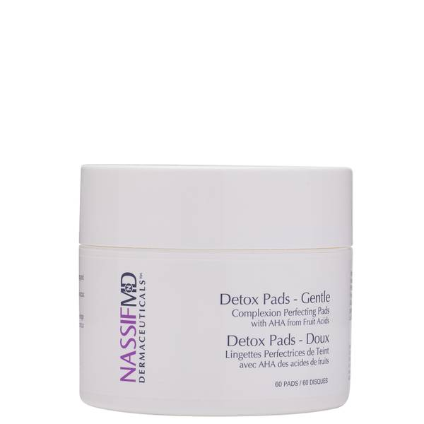 NassifMD Dermaceuticals Gentle Complexion Perfecting Exfoliating and Detoxification Treatment Pads 60ct