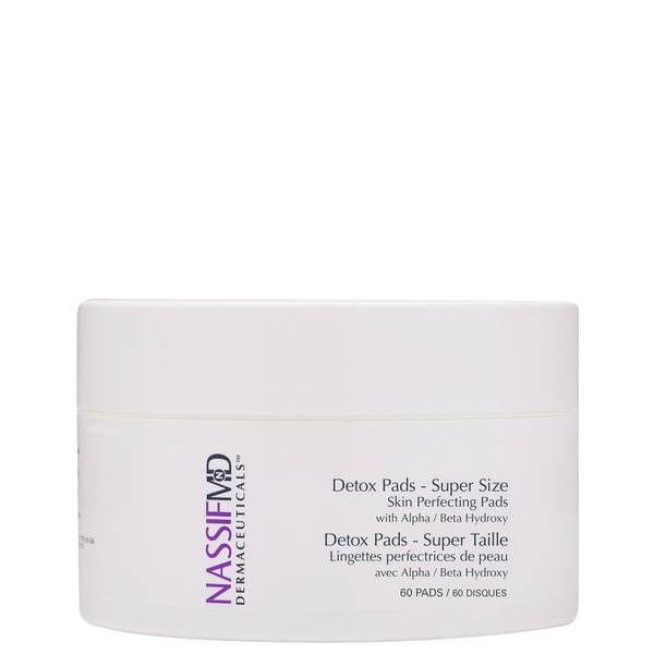 NassifMD Dermaceuticals Supersize Skin Perfecting Exfoliating and Detoxification Treatment Pads 60ct