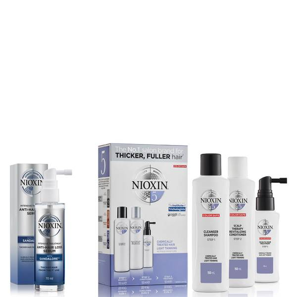 NIOXIN 3-Part System 5 Trial Kit for Chemically Treated Hair with Light Thinning Kit