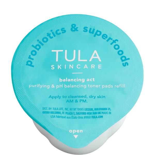 TULA Skincare Balancing Act Purifying pH Balancing Biodegradable Toner Pads Refill 60 count